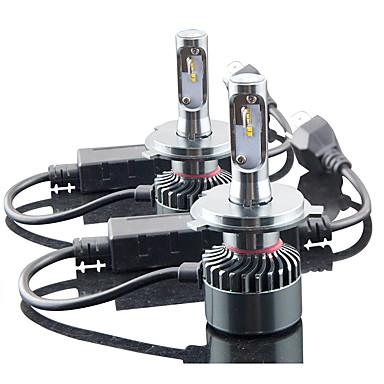 billige Frontlykter til bil-2pcs H13 / 9004 / 9007 Bil Elpærer 60W Integrert LED 6000lm 4 LED Hodelykt For Universell Alle Modeller Alle år
