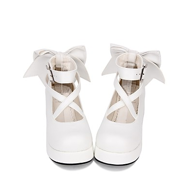 eed86e53a0d Gothic Lolita Dress Sweet Lolita Dress Classic Lolita Dress Sweet Lolita  Classic Lolita Princess Lolita Creepers Shoes Solid Colored Bowknot 5 cm CM  White ...
