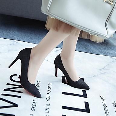 Chaussures Evénement été Talons Bleu Talon Aiguille Confort Automne Noir amp; Soirée Printemps pointu Tissu Bout Chaussures Femme 06674065 à xWwq8BHT