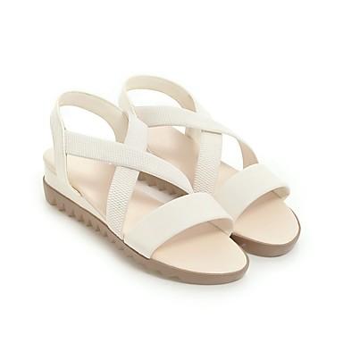 06678492 Rose Bleu Talon Beige Sandales Confort Similicuir Bout Bas Chaussures Femme Eté ouvert xP766