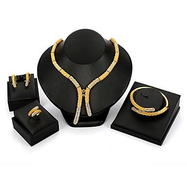 Damskie Biżuteria Ustaw - damska, Vintage, Moda, Ponadgabarytowych Zawierać Złoty Na Impreza Party Wieczór