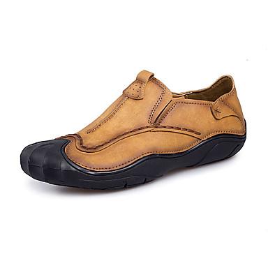 Męskie Buty PU Jesień Comfort Mokasyny i pantofle Light Brown / Khaki