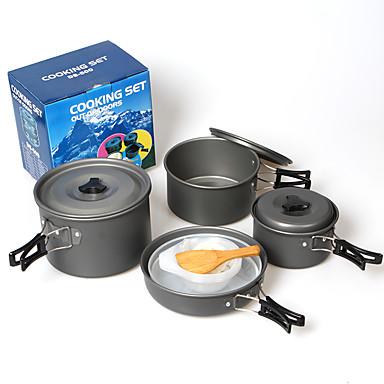 Casserole et po le de camping batterie de cuisine voyage alumine dure de plein air pour - Batterie de cuisine en solde ...