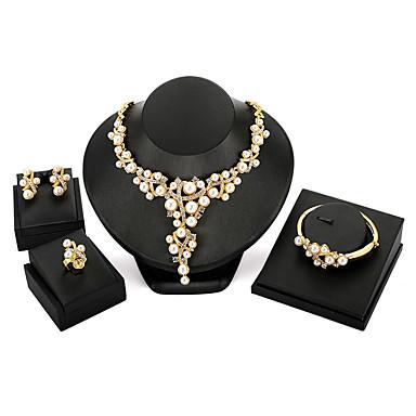 Damskie Biżuteria Ustaw - Perłowy Zabytkowe, Modny, Ponadgabarytowych Zawierać Złoty Na Impreza / Ceremonia