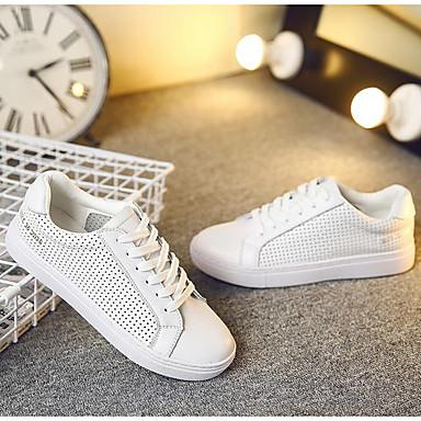 rond Talon Blanc Bout Cuir Femme Basket été Chaussures Plat 06683265 Printemps Confort zZBZFUxqw