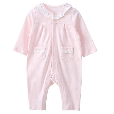 d44dcca3d Baby Unisex Basic Daily Solid Colored Long Sleeve Polyester Overall &  Jumpsuit Pink