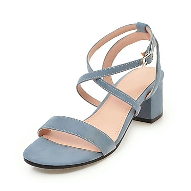 f335363093 Women's Block Heel Sandals Nubuck leather Summer Slingback Sandals Chunky  Heel Navy Blue / Pink /