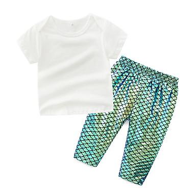 Bebelus Unisex Activ Mată Manșon scurt Set Îmbrăcăminte / Copil