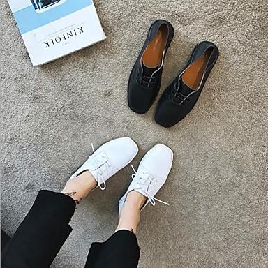 Chaussures Femme 06682323 Confort Blanc Printemps Plat et Automne Cuir Talon Noir Mocassins D6148 Chaussons wwqaSxd