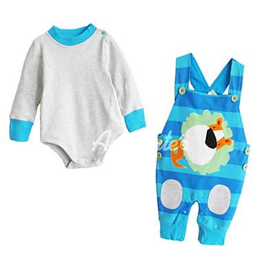Dziecko Unisex Podstawowy Prążki Długi rękaw Komplet odzieży / Brzdąc