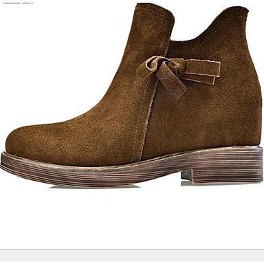 Marron Automne 06660420 Femme Nubuck Cuir Bottes Noir Cuir Nappa Printemps Cuir Confort Chaussures Plat Talon wawqOAF