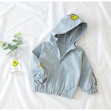 Bebelus Unisex De Bază Geometric / Imprimeu Manșon Lung Bumbac Jachetă & Haină / Copil