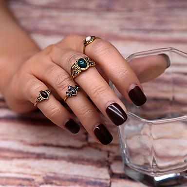 Χαμηλού Κόστους Μοδάτο Δαχτυλίδι-Γεωμετρική Σετ δαχτυλιδιών Κράμα κυρίες Βίντατζ Ευρωπαϊκό Μοντέρνα Μοδάτο Δαχτυλίδι Κοσμήματα Χρυσό Για Πάρτι Γενέθλια 7
