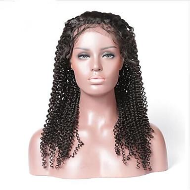 Włosy remy Koronkowy przód Peruka Włosy brazylijskie / Kinky Curly Kędzierzawy 130% Gęstość Damskie Długo Peruki z włosów ludzkich