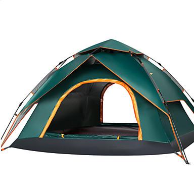 Sheng yuan 4 شخص أوتوماتيكي الخيمة في الهواء الطلق مكتشف الأمطار سريع جاف طبقات مزدوجة أوتوماتيكي القبة خيمة التخييم 2000-3000 mm إلى Camping / Hiking / Caving السفر قماش اكسفورد أكسفورد القماش