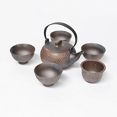 5 szt. Porcelanowy zestaw czajniczek żaroodporny, 11,5 * 7,3 * 6,8; 8,7 * 8,7 * 5,3 cm