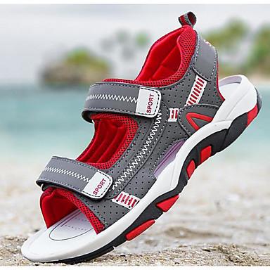 povoljno Dječje cipele & Dječje torbe-Dječaci Umjetna koža Sandale Dijete (9m-4ys) / Mala djeca (4-7s) / Velika djeca (7 godina +) Udobne cipele Crvena / Zelen / Plava Ljeto / TR
