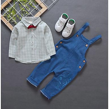 Dzieci Dla chłopców Aktywny Nadruk Długi rękaw Komplet odzieży