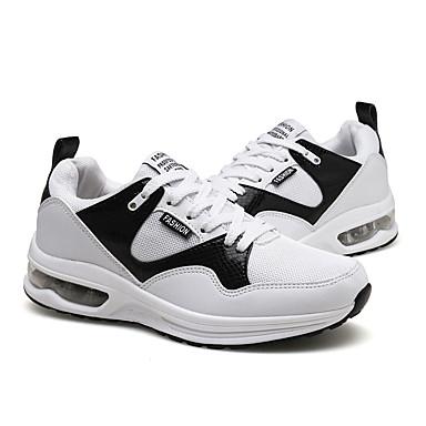 Femme Chaussures Tulle Automne Confort Chaussures d'Athlétisme Course Course Course à Pied Talon Plat Bout rond Blanc / Noir / Bleu | En Qualité Supérieure  15b677