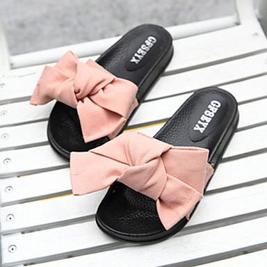 povoljno Tekstil za dom-Ženske papuče Natikače Običan / Geometrijski uzorak Nubuk koža Mašna Cipele