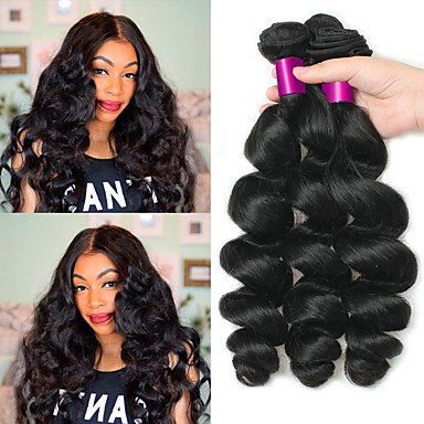 3 Bundles Peruvian Hair Wavy 8A Human Hair Human Hair Extensions Natural  Color Human Hair Weaves Soft Best Quality New Arrival Human Hair Extensions  Women s ... cde6770fd7