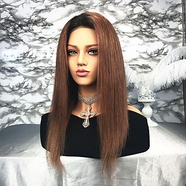 Păr Remy Față din Dantelă Perucă Păr Brazilian Drept Ombre  Perucă 130% Ombre  Pentru femei Lung Peruci Păr Uman