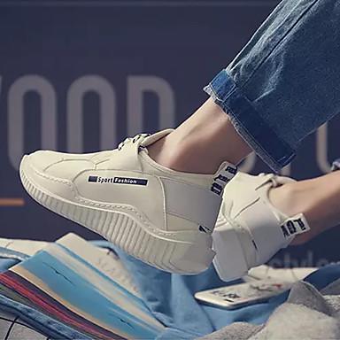 Homme Tulle Printemps & Automne Automne Automne Confort Chaussures d'Athlétisme Marche Blanc / Noir | Une Grande Variété De Modèles  2f8741