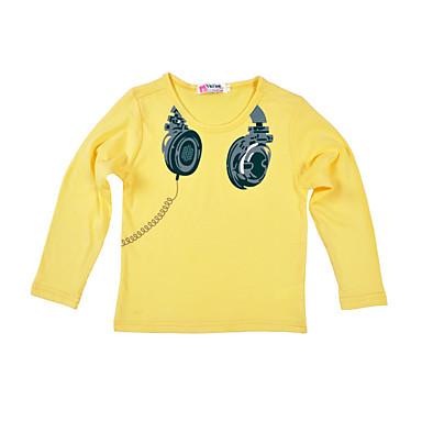Gentile Bambino Da Ragazzo Essenziale Quotidiano - Sport Con Stampe Manica Lunga Standard Cotone - Poliestere T-shirt Grigio #06754845 Non-Stireria
