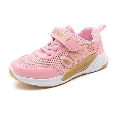 Fete Pantofi Tul / PU Primavara vara Confortabili Adidași Plimbare Bandă Magică pentru Copii Alb / Negru / Roz / Slogan