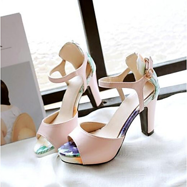 Sandalias Mujer Punta cerrada Zapatos Beige Confort Tacón Rosa Negro Verano 06770563 PU Stiletto 66UqCw4