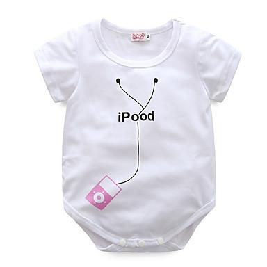 Bebelus Fete Activ Imprimeu Mânecă scurtă bodysuit