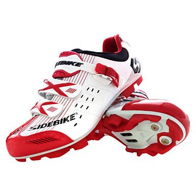رخيصةأون أحذية ركوب الدراجة-SIDEBIKE Mountain Bike Shoes ألياف الكربون متنفس مكافح الانزلاق ركوب الدراجة أحمر وأبيض نسائي أحذية الدراجة / شبكة قابلة للتنفس / هوك وحلقة