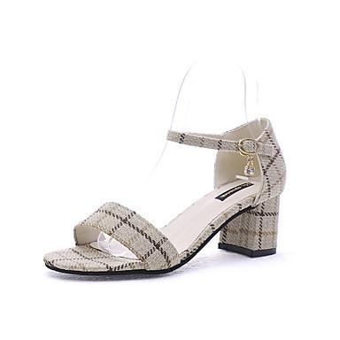 Pentru femei Pantofi PU Primavara vara D'Orsay & Două Bucăți Sandale Toc Jos Negru / Bej / Party & Seară / Party & Seară
