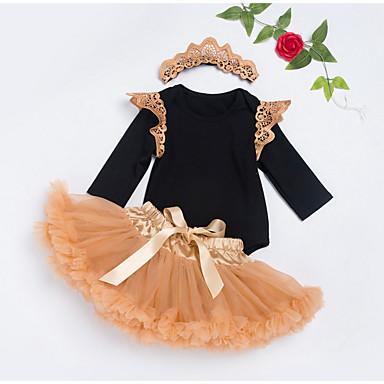 Bebelus Fete Peteci Manșon Jumate Set Îmbrăcăminte