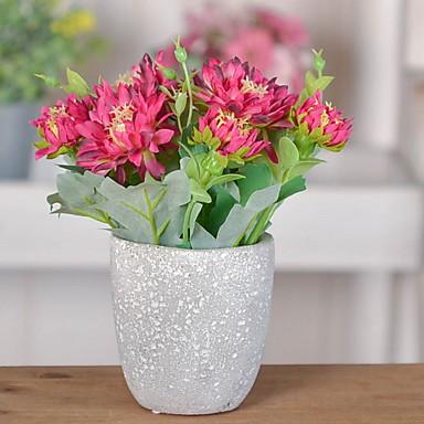 Flori artificiale 1 ramură Clasic / Single Rustic Azalee Față de masă flori