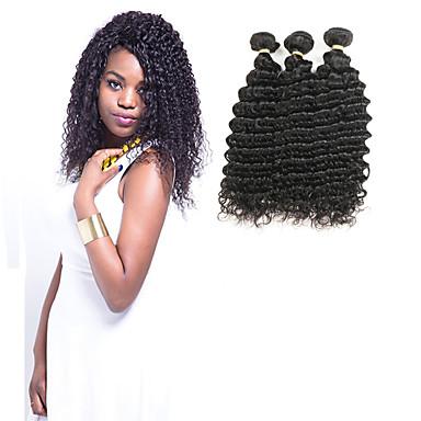 baratos Extensões de Cabelo Natural-3 pacotes Cabelo Indiano Ondulado 10A 100% Remy Hair Weave Bundles Extensões de Cabelo Natural 8-30 polegada Natureza negra Tramas de cabelo humano Brilhante Novo Design 100% Virgem Extensões de