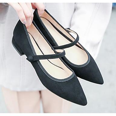 Femme Beige Bout Chaussures Sandales Printemps pointu 06764104 été Daim Confort Bas Noir Talon Rose 44nq1r8