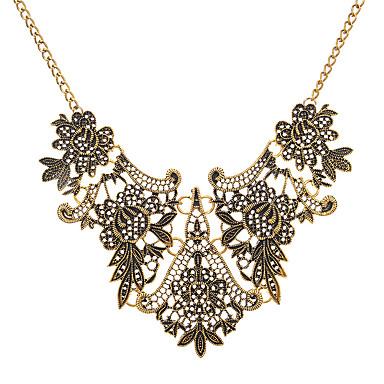 billige Mote Halskjede-Dame Krave Tykk kjede damer Vintage Europeisk Legering Gull Sølv 45+8.5 cm Halskjeder Smykker 1pc Til Aftenselskap