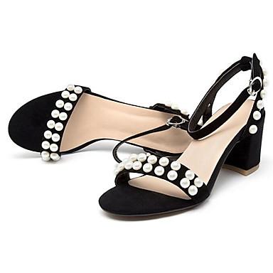 Printemps Chaussures Femme Boucle Noir Talon Rose Bottier Sandales 06764393 Daim ouvert Bout Confort qdEzEr