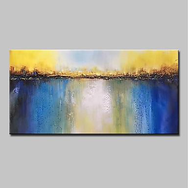 Hang-pictate pictură în ulei Pictat manual - Abstract / Peisaj Modern Includeți cadru interior / Stretched Canvas