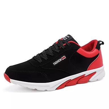 Men's Flocking Fall Comfort Athletic Shoes Running Shoes Color Block Black Black / White / Black Block / Red / Black / Blue 078c8d
