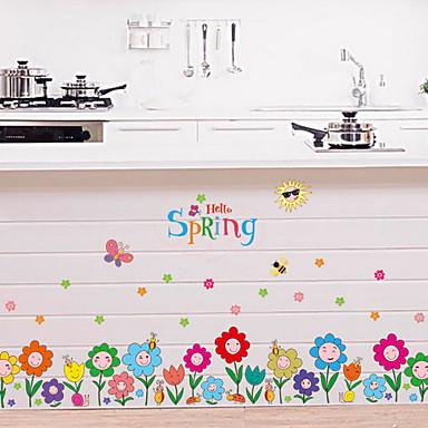 Autocolante de Perete Decorative - Autocolante perete plane Floral / Botanic Cameră Copii