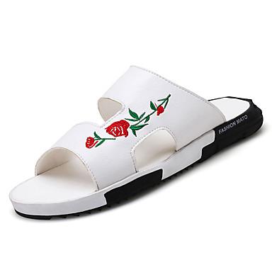 Bărbați Cauciuc Vară Confortabili Papuci & Flip-flops Negru / Gri / Maro
