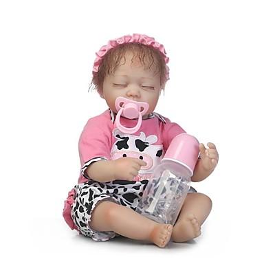 halpa Reborn Dolls-NPKCOLLECTION NPK DOLL Reborn Dolls Tyttö Nukke Tyttövauvat 18 inch Vinyyli - Vastasyntynyt Gift Käsintehty Lasten Tyttöjen Lelut Lahja