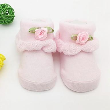 Bambino (1-4 Anni) Da Ragazza Attivo Quotidiano Tinta Unita Lacci Rayon Intimo E Calzini Rosa #06731962
