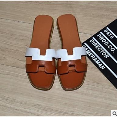 Cuir Chaussons ouvert Rouge Tongs Chaussures Vert 06766071 Plat Eté Confort Femme Nappa Bout amp; Talon Argent w5XT44qB