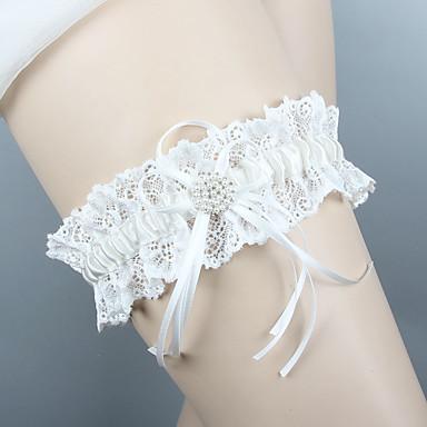 Șifon Satinat / Dantelă Stil Vintage Nunta Garter Cu Piatră Semiprețioasă / Funde / Șifonat Jartiere Nuntă / Party & Seară