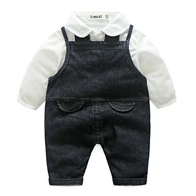 Bebelus Băieți De Bază Mată Manșon Lung Poliester O - piesă Albastru piscină 100 / Copil