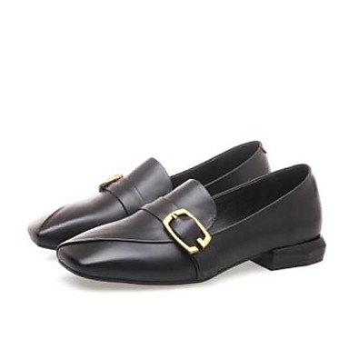 Women's Shoes Nappa Leather Summer Comfort Loafers & Toe Slip-Ons Low Heel Closed Toe & Black / Yellow 266b7c
