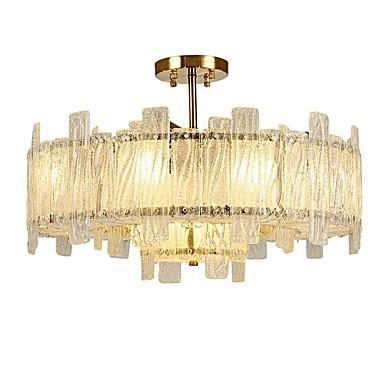 QIHengZhaoMing 10-Light Cristal Montaj Flush Lumini Ambientale Galvanizat Metal Sticlă 110-120V / 220-240V Becul nu este inclus